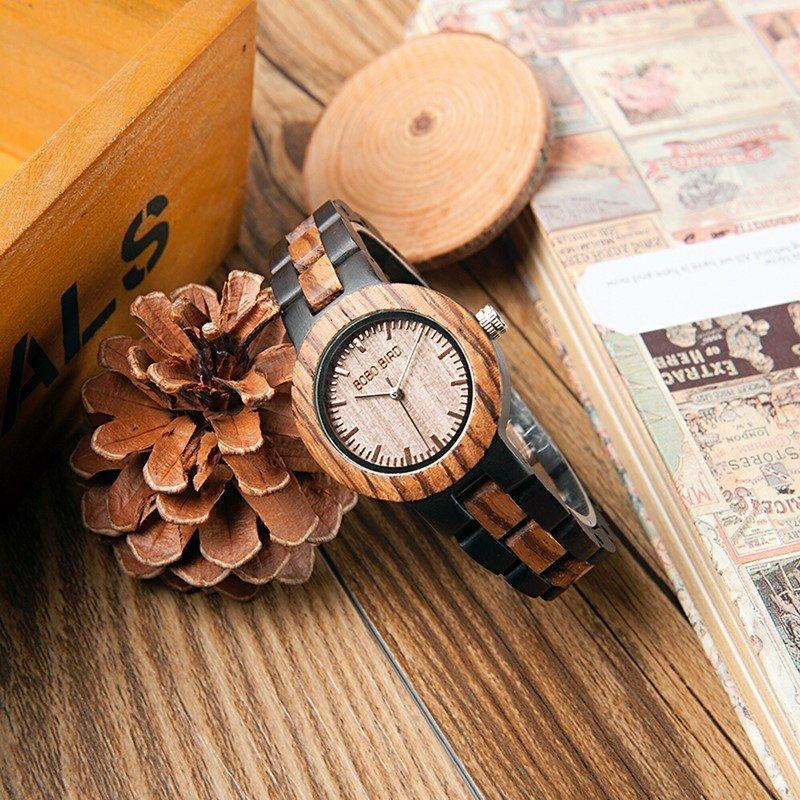 Dřevěné hodinky BOBO BIRD N28N30, Pro ni Pro ni