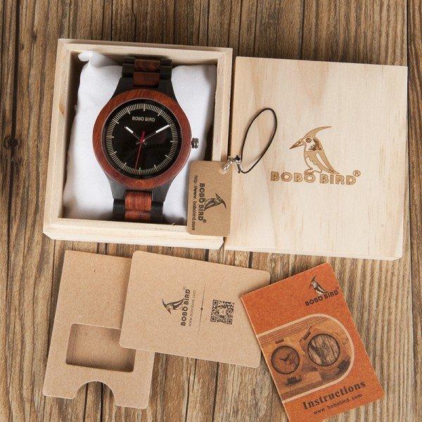 Dřevěné hodinky BOBO BIRD O01O02 santalové dřevo