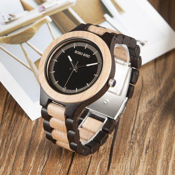 Dřevěné hodinky BOBO BIRD O01O02 borovicové dřevo