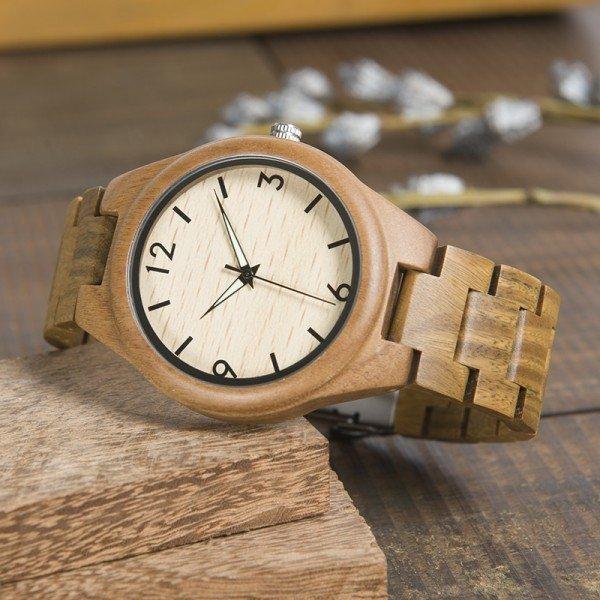 Dřevěné hodinky BOBO BIRD WI18