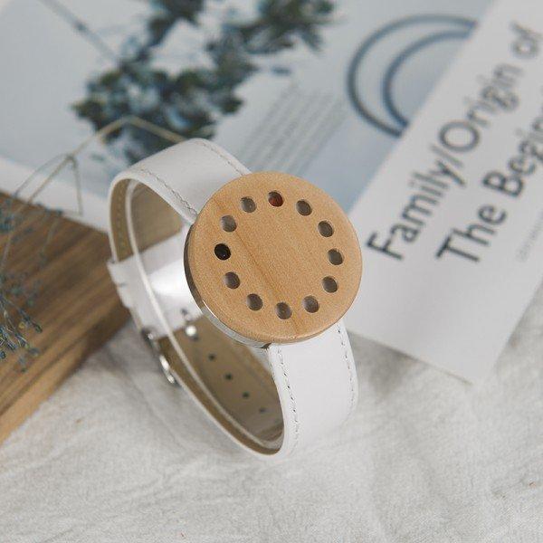 Dřevěné hodinky BOBO BIRD WC12 - bílý pásek