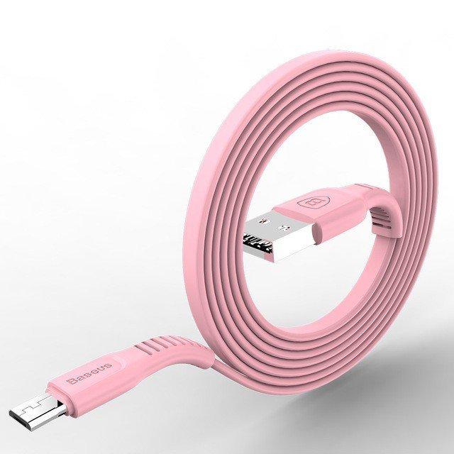 KB01 Anti-knotting micro USB kabel pro android zařízení, Bílá, 1m Bílá 1m