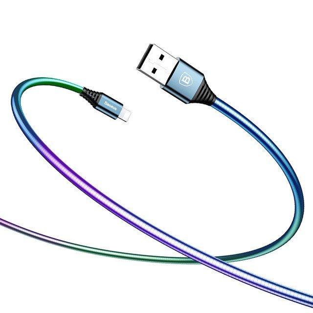 KB26 Discolor USB kabel lightning, Červená, 1m Červená