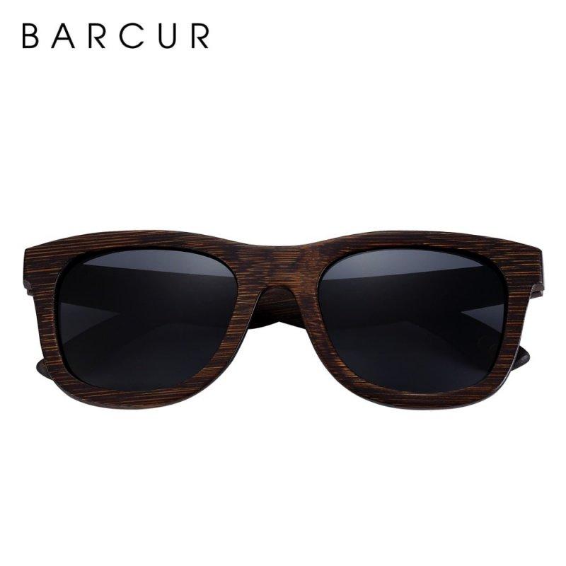 Dřeveněné brýle polarizační Retro style BCR05 Šedá