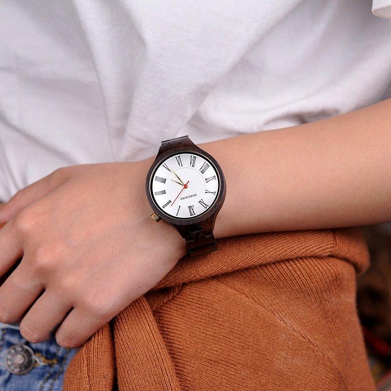 Dřevěné hodinky BOBO BIRD WQ11 - bambusové dřevo