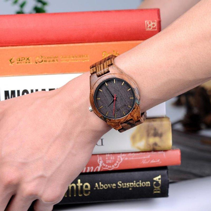 Dřevěné hodinky BOBO BIRD WQ12 - Zebra Wood