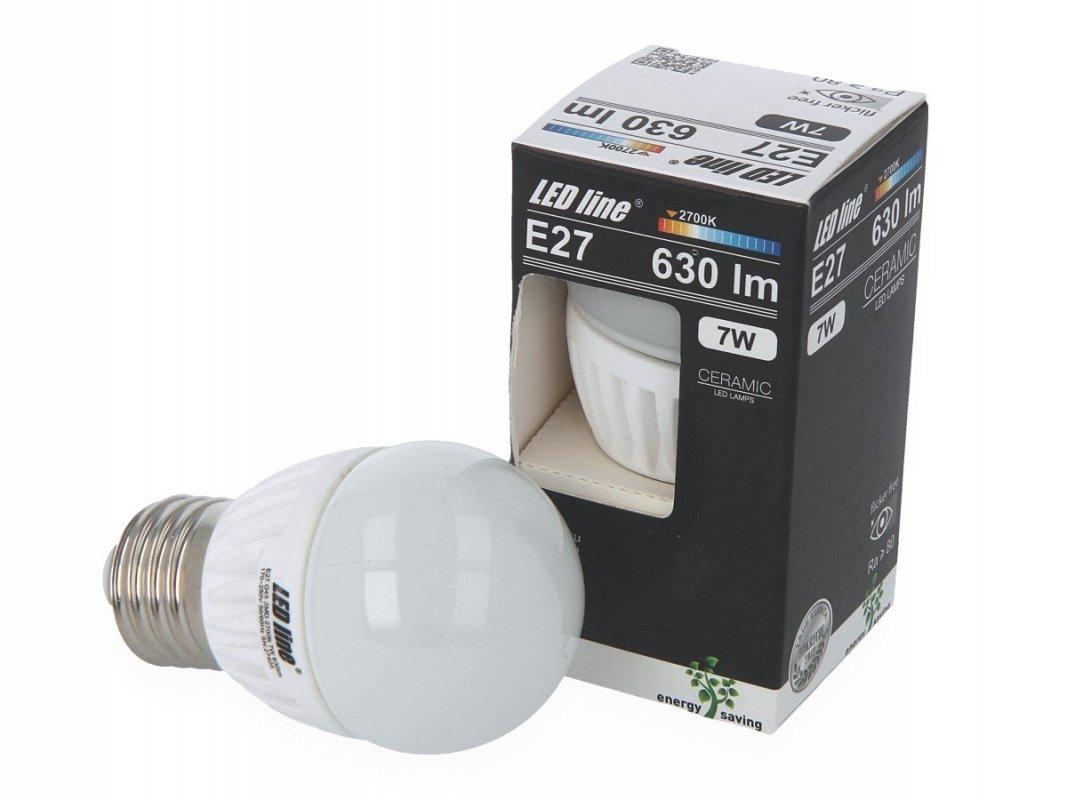 Ledin LED SMD žárovka E27 7W 630lm teplá (50W)