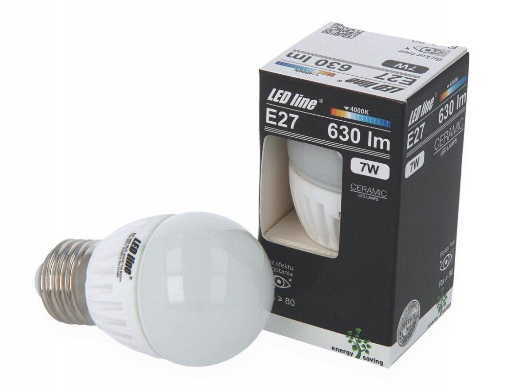 Ledin LED SMD žárovka E27 7W 630lm denní (50W)