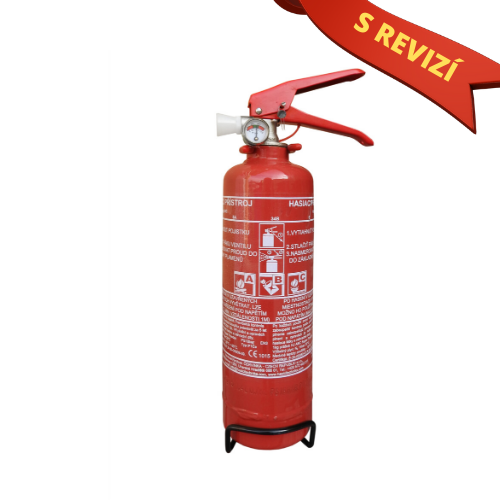 Práškový hasicí přístroj do auta 1 kg P1 ČE + REVIZE
