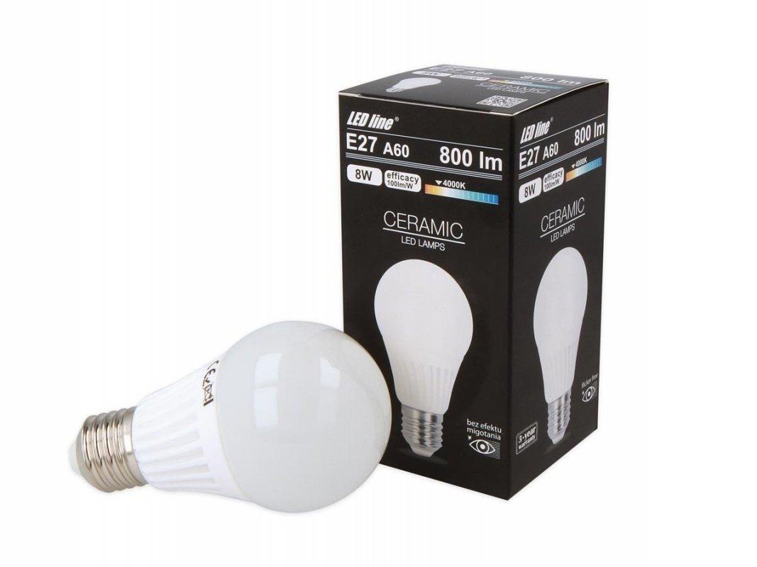 Ledin LED SMD žárovka E27 8W 800lm denní (60W)