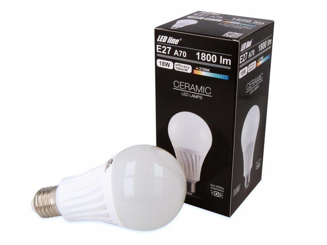 Ledin LED SMD žárovka E27 18W 1800LM teplá (140W)