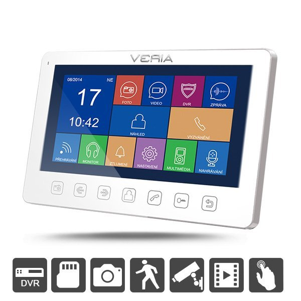 SET Videotelefon VERIA 7070B + VERIA 228S, noční vidění