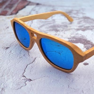 Pánské dřevěné sluneční brýle polarizované ZA05