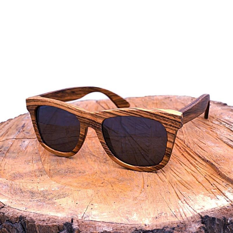 Pánské dřevěné sluneční brýle polarizované ZA07
