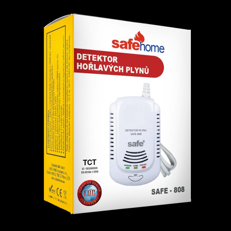 Detektor hořlavých a výbušných plynů SAFE 808 - hlásič zemního plynu