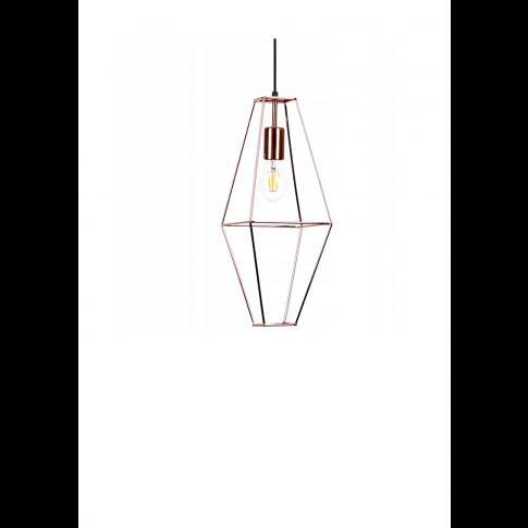 Závěsná lampa Diamond Rede - růžové zlato