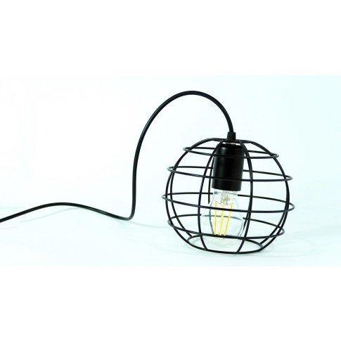 Závěsná drátová lampa Tarra