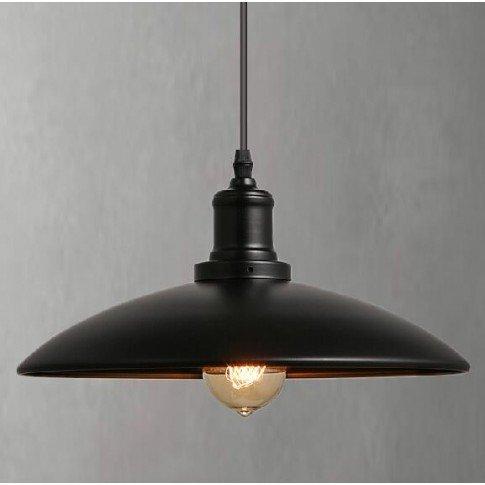 Závěsná stropní lampa SKANDI - černá