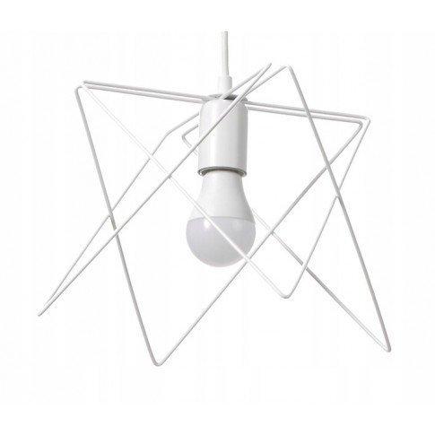Závěsná drátová lampa - bílá
