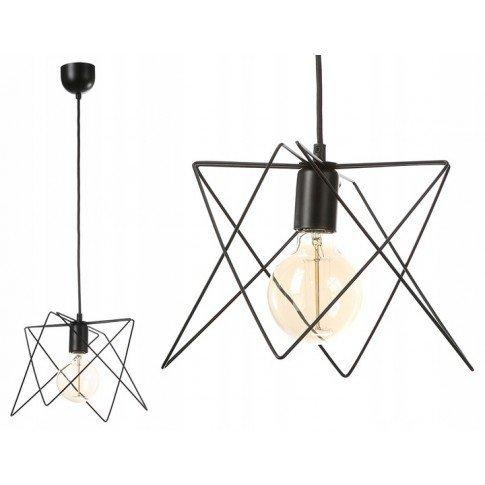 Závěsná drátová lampa - černá