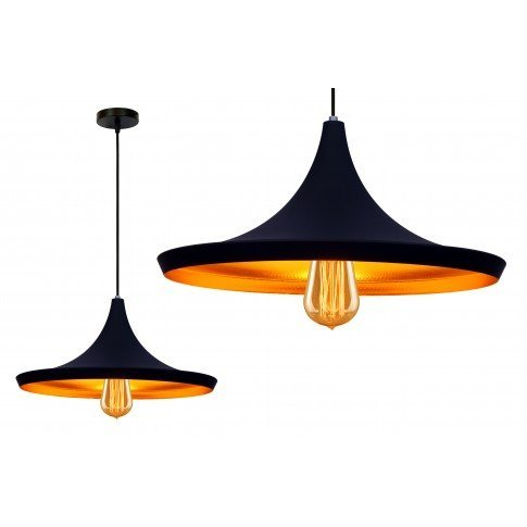 Závěsná lampa Gold - černá
