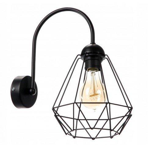 Nástěnná lampa Diamond Slim - černá
