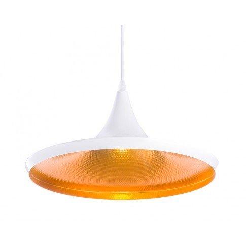Závěsná lampa Gold - bílá