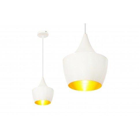 Závěsná lampa Loft Gold - bílá