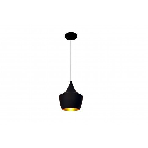 Závěsná lampa Loft Gold - černá