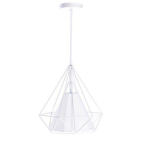 Závěsná lampa Diamond - bílá