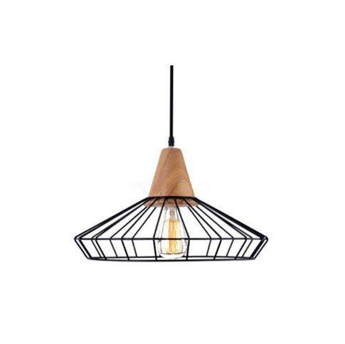 Skandinávská závěsná lampa - dřevo