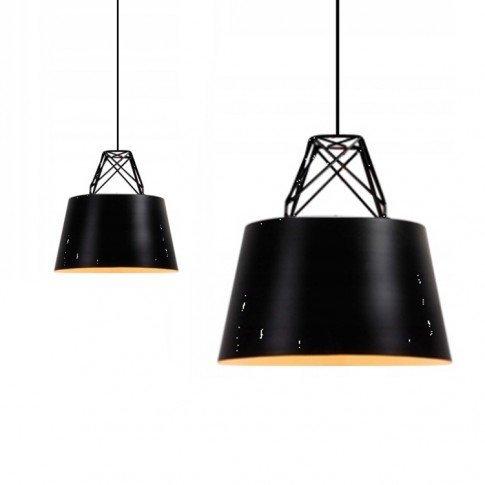 Závěsná stropní lampa Doodie - černá