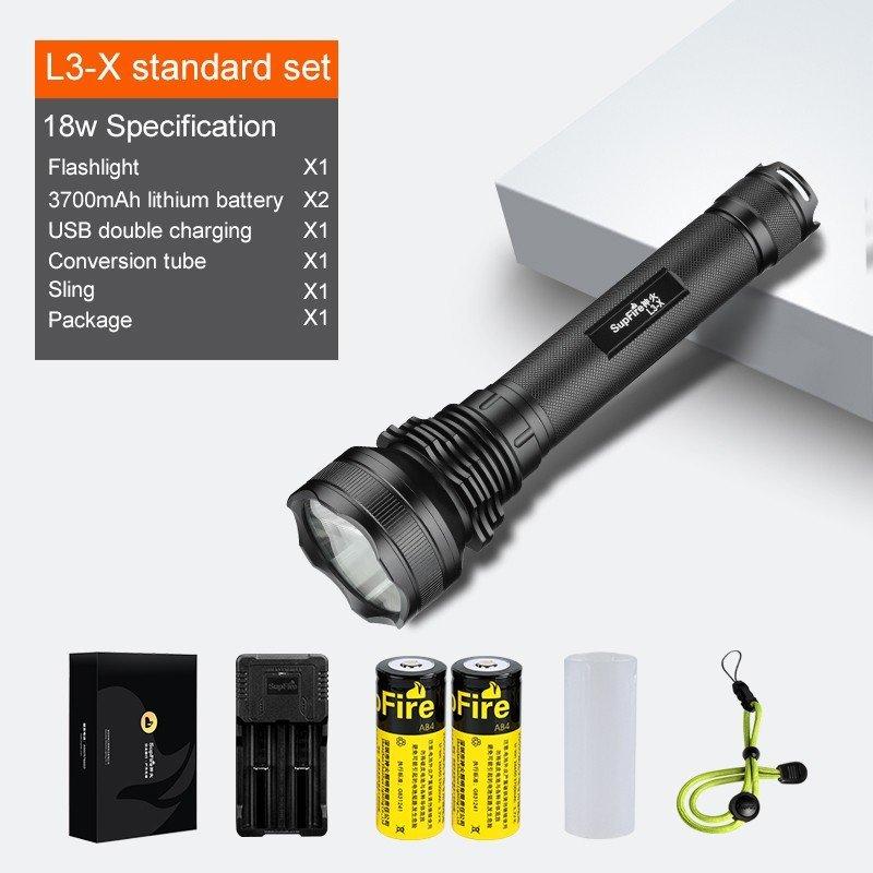 Supfire L3-U LED nabíjecí svítilna Cree XHP70.2 3400lm, USB, Li-ion