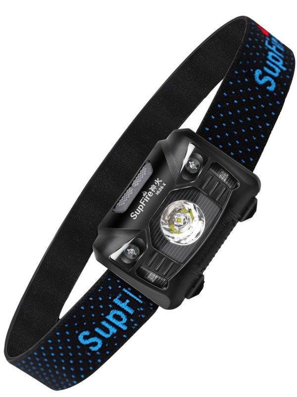 Supfire LED čelovka Cree LED 280lm, USB-C, Li-ion