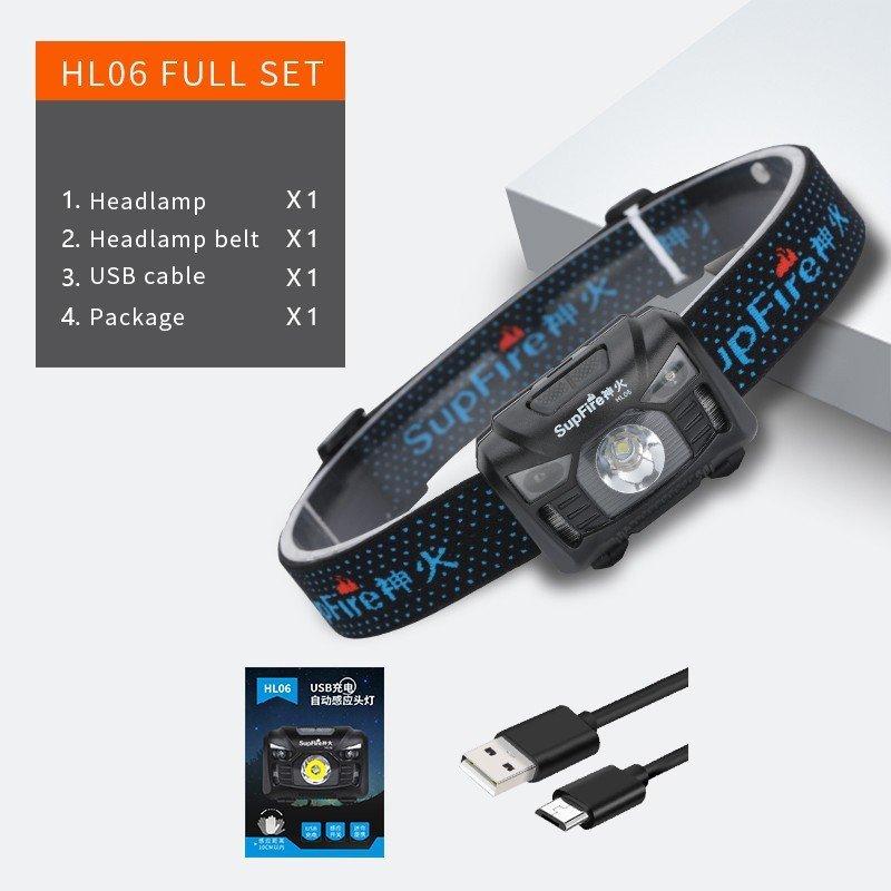 Supfire HL06 LED čelovka Cree LED 280lm, USB-C, Li-ion