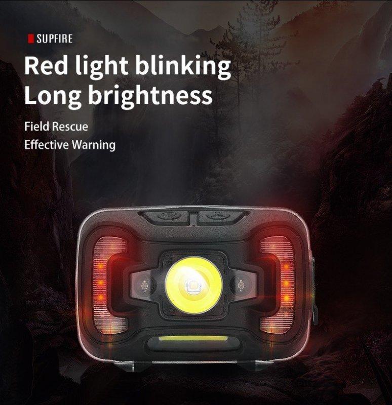 Supfire HL16 LED čelovka JIGNRUI XG2 LED 273lm, USB, Li-ion