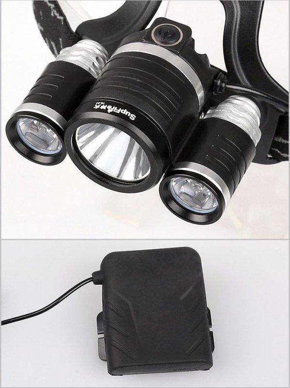 Supfire HL33 LED čelovka CREE XML-T6 LED 900lm, 4xAA Ni-MH baterie