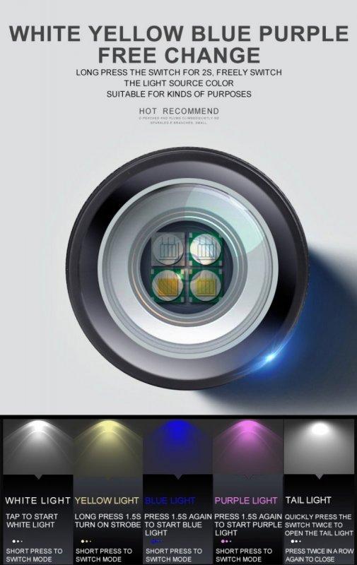 Supfire GF01-A LED svítilna na ryby Jingrui UXDO-Y 140lm, USB, Li-ion výdrž až 720 minut