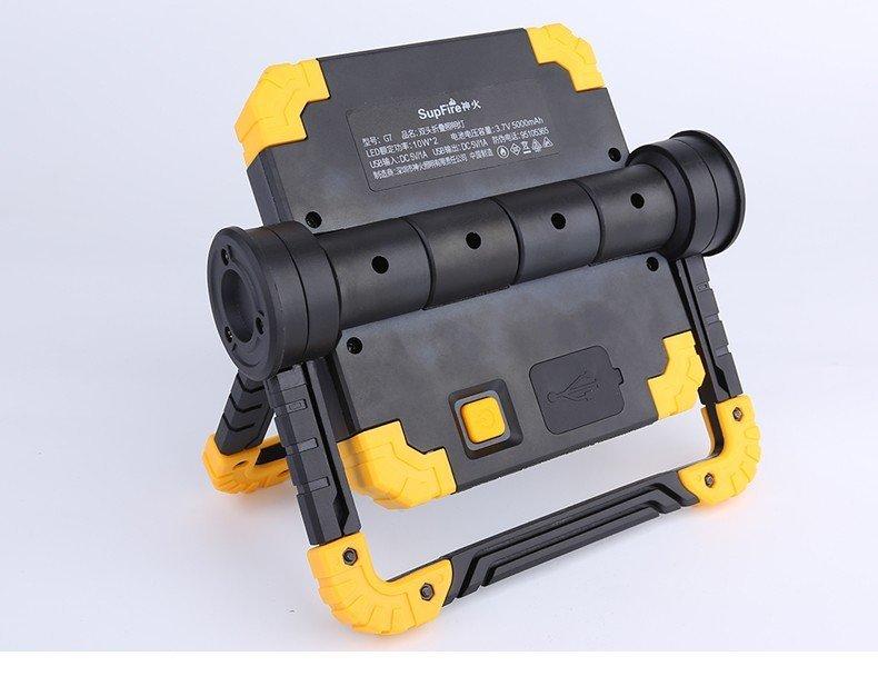 Supfire LED pracovní svítilna COB 275lm, USB, Li-ion