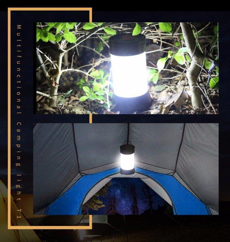 Supfire T1 LED kempingová lampa LatticeBright SMD2835 LED 450lm, USB, Li-ion