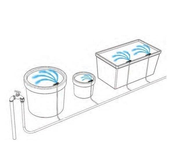 Mikrotryska na bodci s regulací průtoku