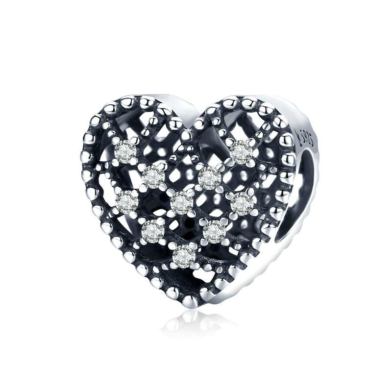 Bamoer stříbrný přívěsek Čisté srdce