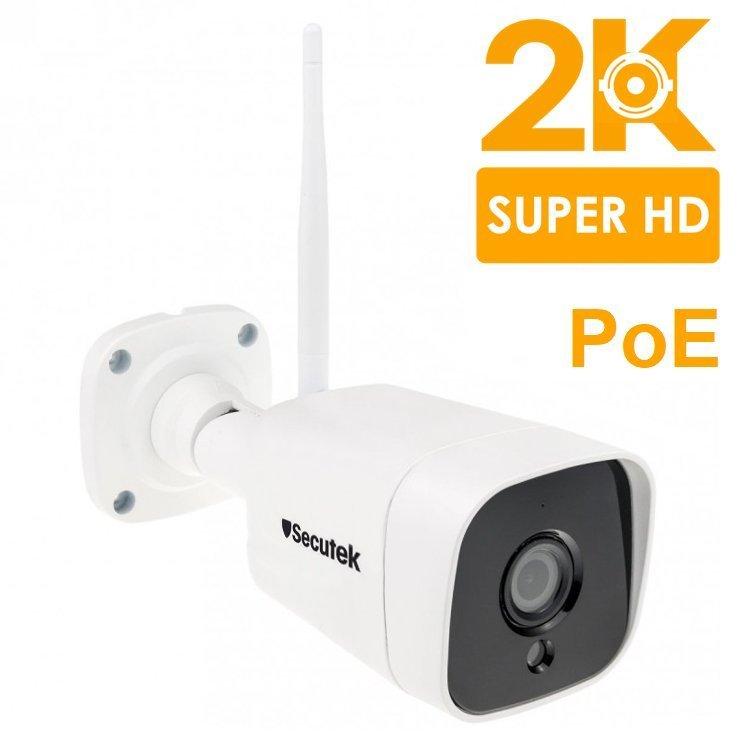 Super HD 5MP IP kamera se záznamem Secutek SBS-B19WPOE s PoE