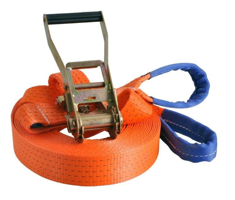 Slackline 15m x 5cm - oranžová