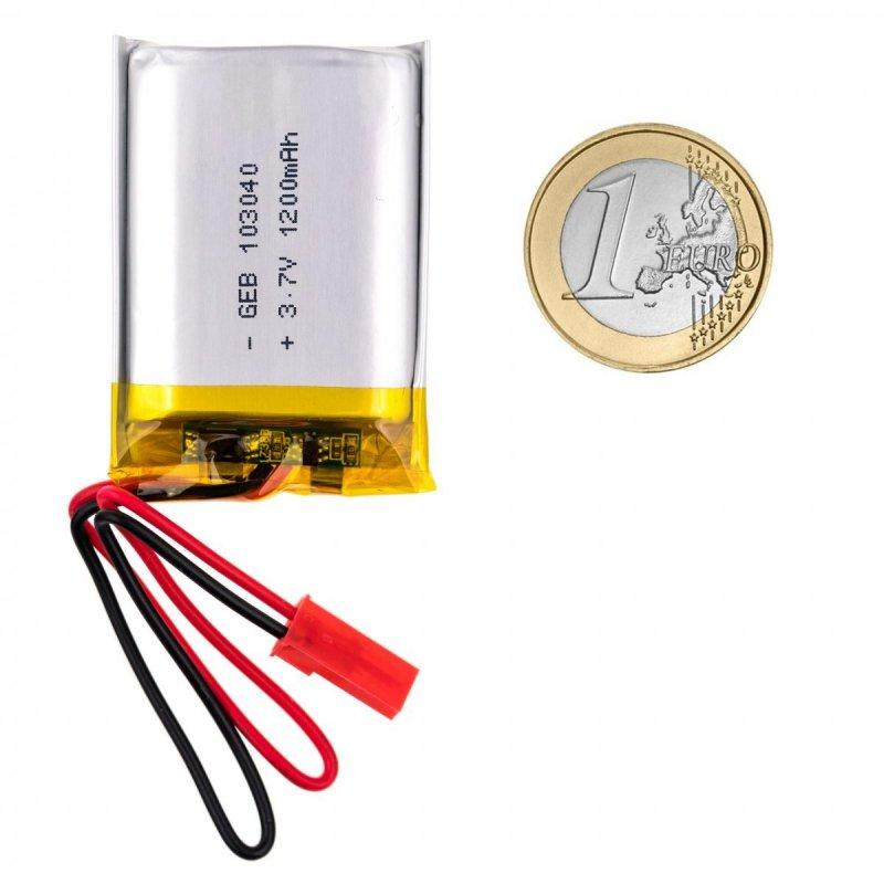 3.7V 1200mAh dobíjecí lithiová baterie