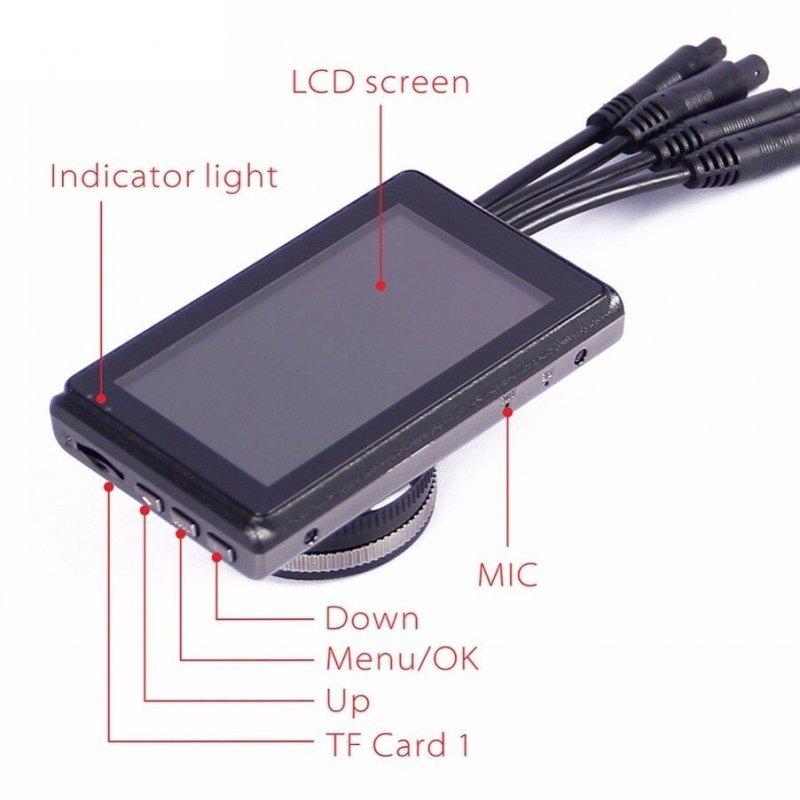 """3CH kamerový systém X1S s 3"""" LCD a GPS"""