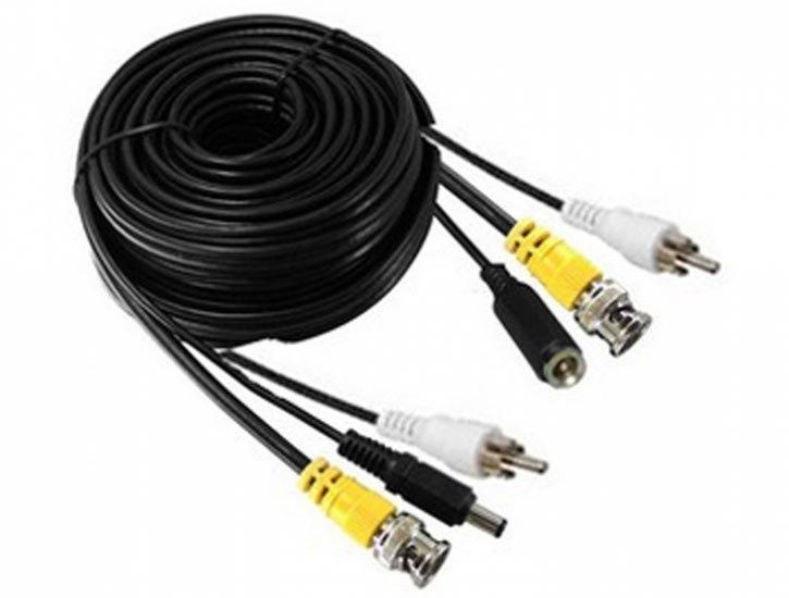 Audio/Video kabel BNC, RCA, DC - 10m