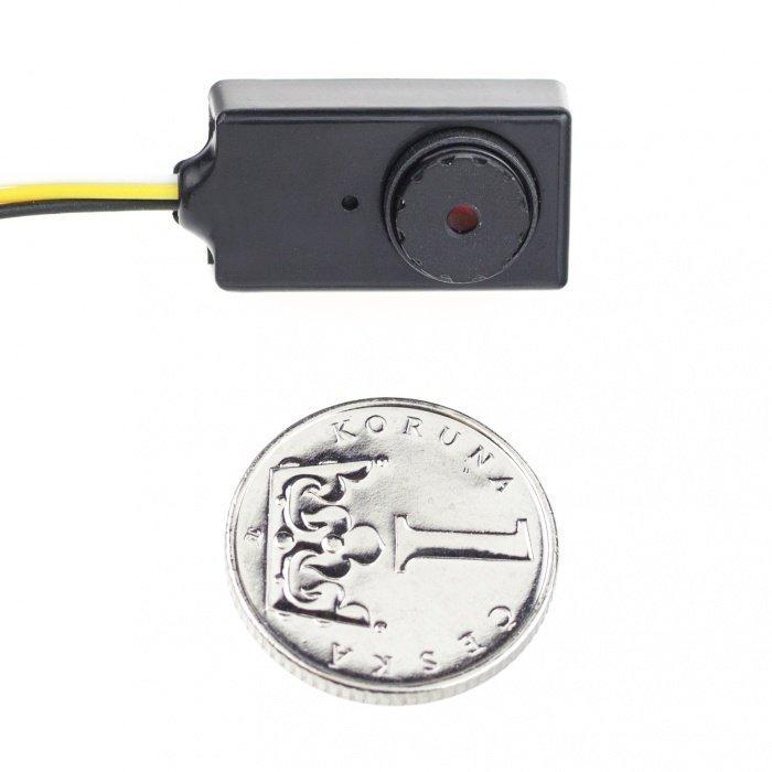 CCTV minikamera - 520TVL, 0,008 LUX, 55° pinhole