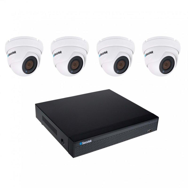 Kamerový set Secutek SLG-NVR3604CDP1FE800 - 4x 8MP Lite dome kamera, NVR