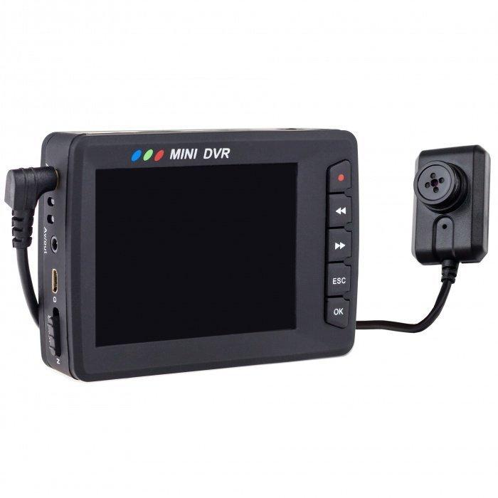 Angel Eye - knoflíková kamera s DVR a LCD displejem